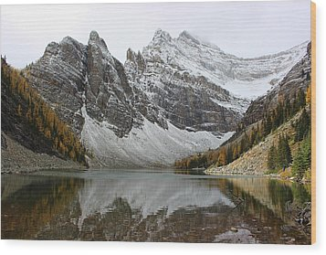 Wood Print featuring the photograph Lake Agnes by Ramona Johnston