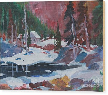 Lake Algonquin Park  Revisited Wood Print by Sherrill McCall