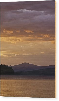 Lake Almanor Sunset Wood Print