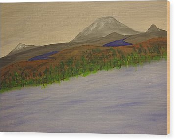 Lake And Mountains Wood Print by Keith Nichols