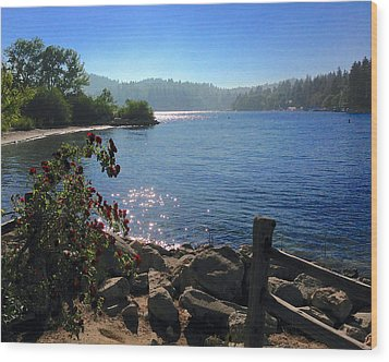 Lake Arrowhead Wood Print