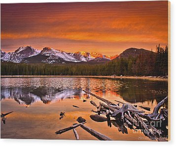 Lake Bierstadt In The Morn Wood Print by Steven Reed