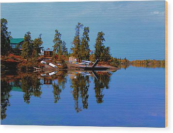 Lake Brereton Wood Print by Larry Trupp