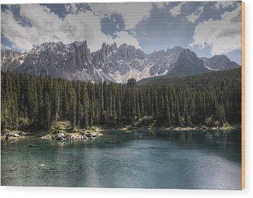 Lake Carezza Wood Print