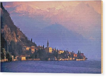 Wood Print featuring the painting Lake Como Italy by Douglas MooreZart