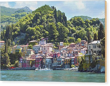 Wood Print featuring the photograph Lake Como - Italy by Haleh Mahbod