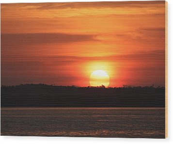 Lake Conroe Sunset Wood Print
