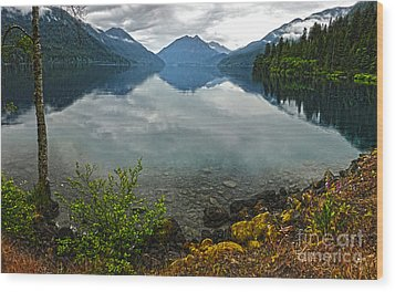 Lake Crescent - Washington - 04 Wood Print by Gregory Dyer