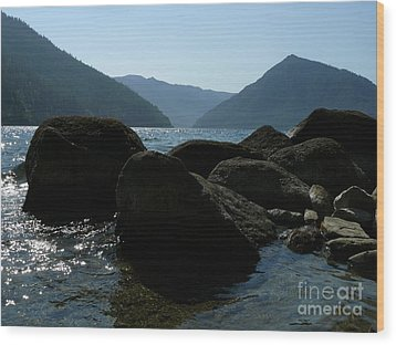Wood Print featuring the photograph Lake Crescent by Jane Ford