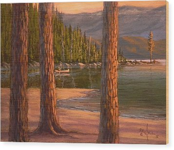 Lake Cruise Wood Print