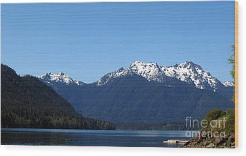 Lake Cushman - Olympic National Forest Wood Print