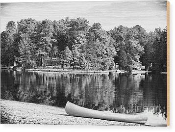 Lake Day Wood Print by John Rizzuto
