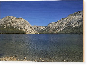 Lake Ellery Yosemite Wood Print by David Millenheft