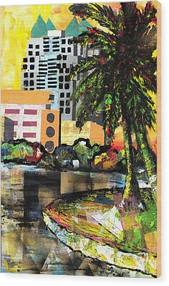 Lake Eola - Part 3 Of 3 Wood Print by Everett Spruill