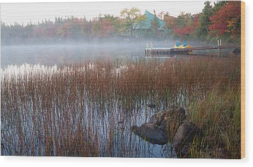 Wood Print featuring the photograph Lake Fog At Dawn by Trever Miller