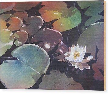 Lake Garden Wood Print