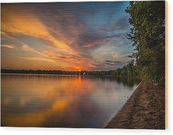 Lake Harriet Grand Finale Wood Print by Mark Goodman