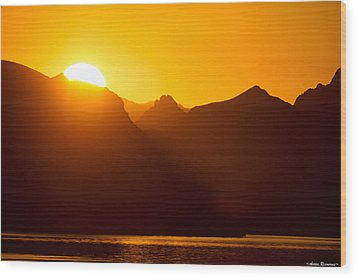 Lake Havasu Sunrise 2 Wood Print