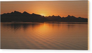Lake Havasu Sunrise Wood Print by Avian Resources