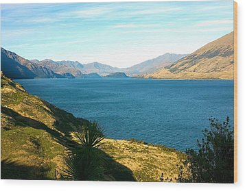 Wood Print featuring the photograph Lake Hawea by Stuart Litoff