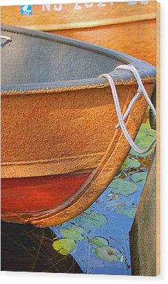 Lake Hopatcong Boat Wood Print