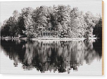 Lake House Wood Print by John Rizzuto