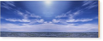 Lake Huron And Sky Wood Print by Vast Photography