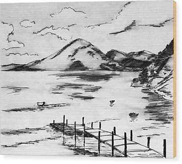 Lake In Guatemala Wood Print