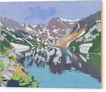 Lake Isabelle Colorado Wood Print by Dan Miller