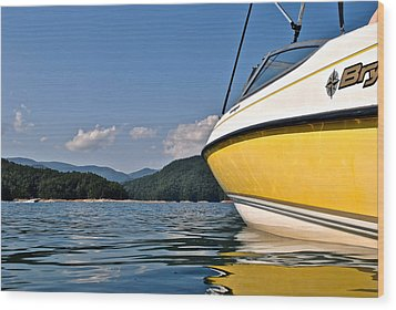 Lake Jocassee Wood Print by Frozen in Time Fine Art Photography