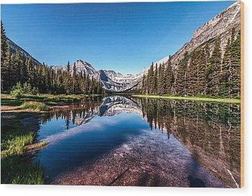 Lake Josephine Wood Print by Aaron Aldrich