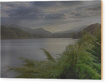 Wood Print featuring the photograph Lake Junaluska by Dennis Baswell
