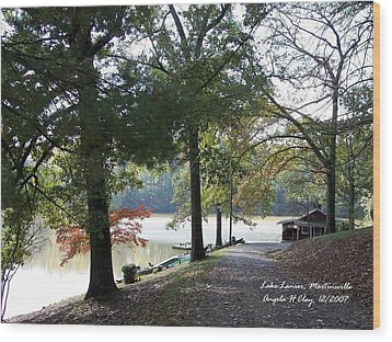 Lake Lanier In Martinsville Va Wood Print