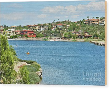 Wood Print featuring the photograph Lake Las Vegas In May by Emmy Marie Vickers