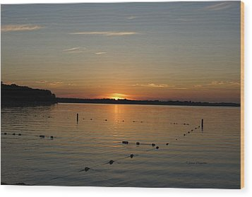 Lake Le Homme Dieu Sunset Wood Print