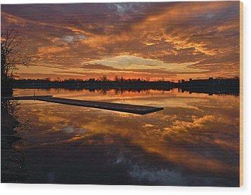 Lake Lenape Sunrise1 Wood Print