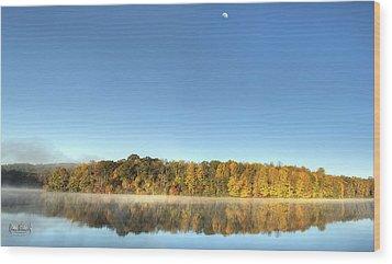 Lake Logan Fall Panorama Wood Print