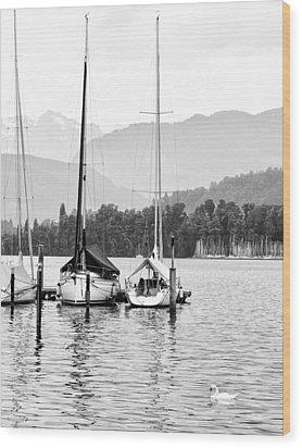 Lake Lucerne Switzerland  Wood Print by Nian Chen