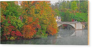 Wood Print featuring the photograph Lake Lure Autumn by Marion Johnson