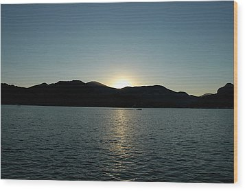 Wood Print featuring the photograph Lake Lure Sunset by Allen Carroll