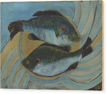 Lake Martin Fish Wood Print