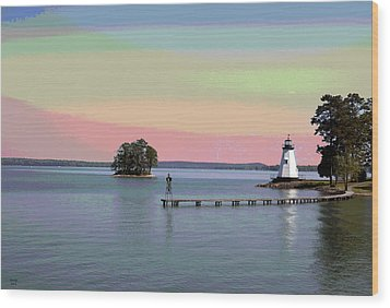 Lake Martin Lighthouse Wood Print