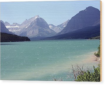 Lake Mcdonald Wood Print by Carolyn Ardolino