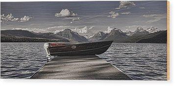Wood Print featuring the photograph Lake Mcdonald by Ellen Heaverlo