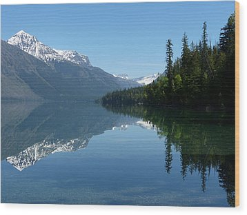 Lake Mcdonald - Glacier National Park Wood Print by Lucinda Walter