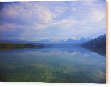 Lake Mcdonald Wood Print by Terry Horstman