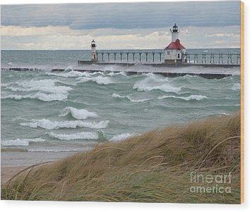 Lake Michigan Winds Wood Print