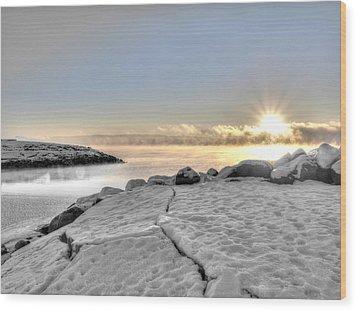 Lake Mjosa Inlet Wood Print by Chris Shirley