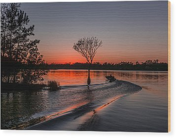 Wood Print featuring the photograph Lake Moultrie by RC Pics