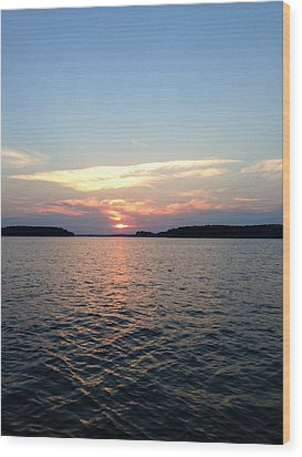 Lake Murray Sunset Wood Print by M West
